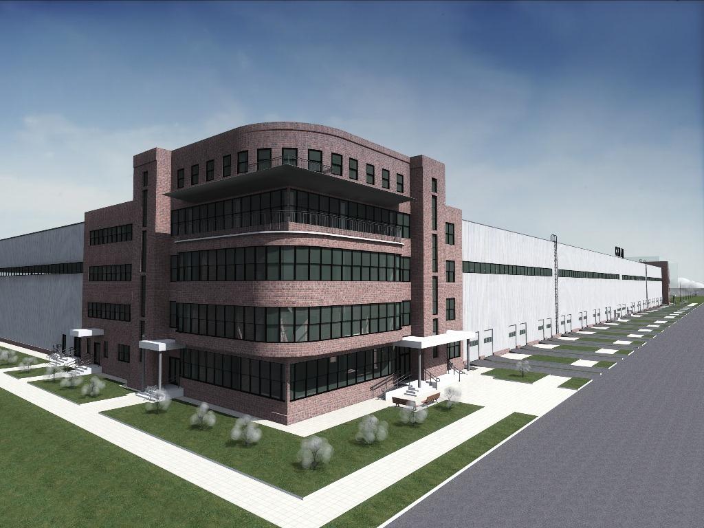 Проект складского комплекса - общая площадь 23 698 кв. метров