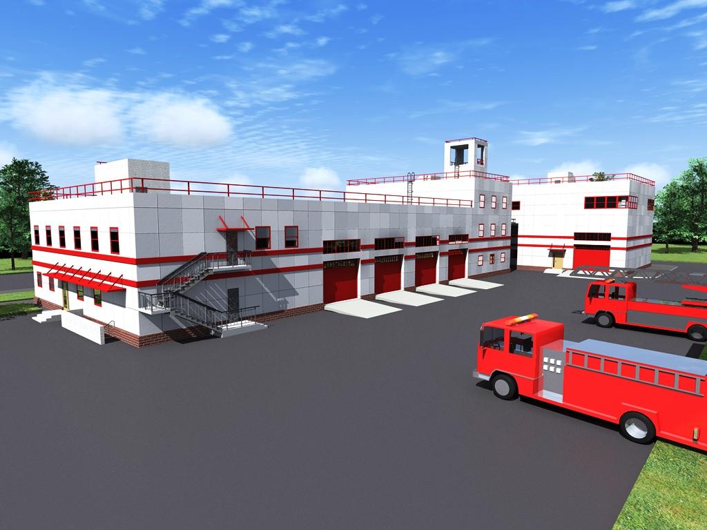 Проект пожарного депо