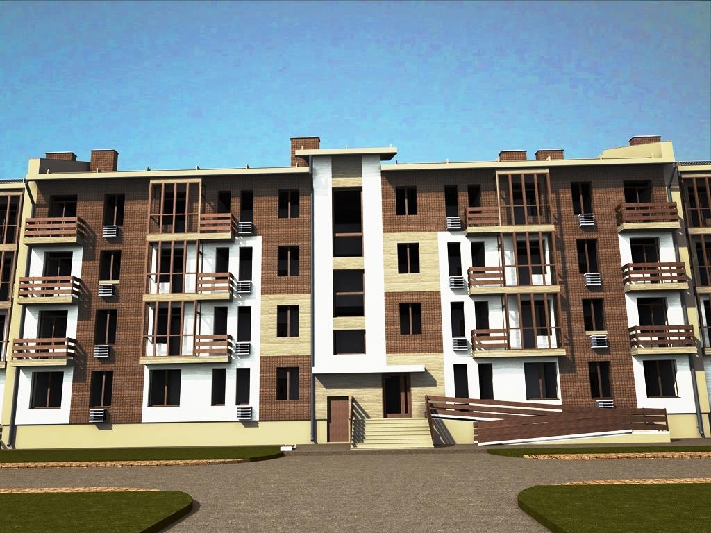 Проект жилого комплекса общей площадью 5882,32 м2