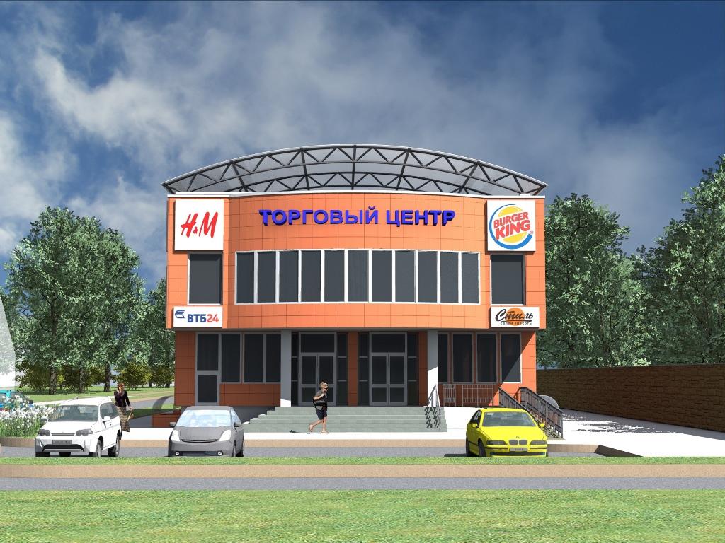 Проект торгового центра общей площадь 890 м2