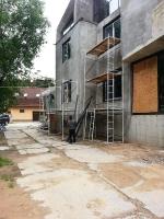 Монтаж системы вентилируемого фасада частного дома в Сколково